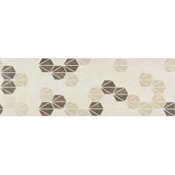 Marazzi Oficina7 MKUY Decoro Avorio / Beige / Tabacco dekorcsempe 32,5 x 97,7 cm