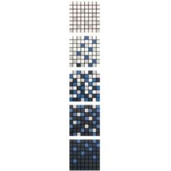 Azulev Mosaico Degradé Solid Antracita mozaik 20 x 20 cm