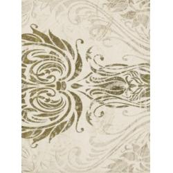 Kwadro Oktawa Ornament B Beige dekorcsempe 25 x 33,3 cm