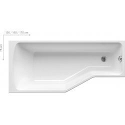 Ravak BeHappy különleges kád 150x75 cm