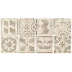 Rondine Icon Folk Almond J85247 rektifikált dekorcsempe 60x60 cm
