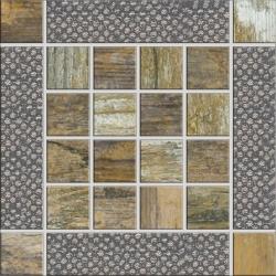 Rondine Metalwood Beige Inserto J84350 dekorcsempe 15x15 cm