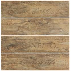 Rondine Metalwood Beige Wine Mix J84345 4 részes dekorcsempe 15x61 cm