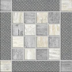Rondine Metalwood Grey Inserto J84351 dekorcsempe 15x15 cm