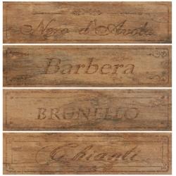 Rondine Metalwood Tobacco Wine Mix J84349 4 részes dekorcsempe 15x61 cm