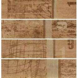 Rondine Tabula Tracce Beige Listone J84383 4 részes dekorcsempe 15x61 cm