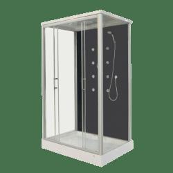 Sanotechnik Roxana CL129 téglalap hidromasszázs zuhanykabin 90x120 cm