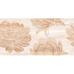 Kanizsa Travertino Floreal falicsempe 25x50 cm