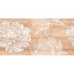 Kanizsa Travertino Muro Floreal falicsempe 25x50 cm