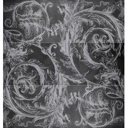 Porcelanosa Voluta Antracita 3 részes dekorcsempe 31,6x90 cm